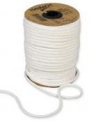 Papierová šnúra pletená 4 mm -prírodná biela