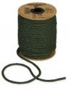Papierová šnúra pletená 4 mm - vianočná zelená