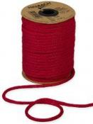 Papierová šnúra pletená 4 mm - červená