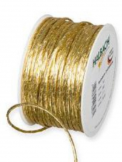 Papierová stuha 2 mm - zlatá