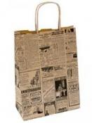Papierová taška s potlačou 20 x 29 cm - noviny