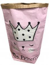 Papierové vrece na hračky 80 cm - princezná