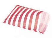 Papierové vrecko - 12,9 x 16,8 cm - červené prúžky