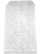 Papierové vrecko - 7 x 12 cm - biele s potlačou