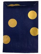 Papierové vrecko - 7 x 12 cm - modré