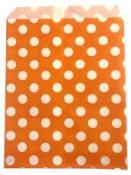 Papierové vrecko - 13 x 16 cm - oranžové