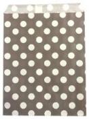 Papierové vrecko - 13 x 16 cm - sivé