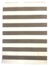 Papierové vrecko - 13 x 16 cm - sivé prúžky