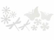 Papierové výrezy pre deti 10 ks - kvety, motýle