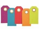 Papierové závesné štítky 3 x 6 cm - farebné