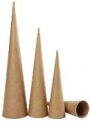 Papierový kužeľ sada 3ks - 30-40-50 cm