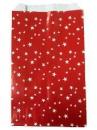 Vianočné papierové vrecúško 12 x 20cm - červené