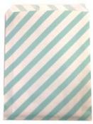 Papierové vrecko - 13 x 16 cm - mentolové prúžky