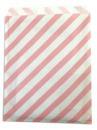 Papierové vrecko - 13 x 16 cm - ružové prúžky