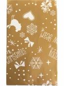 Vianočné papierové vrecúško 12 x 19cm - zlaté