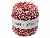 Papierový špagát červeno biely - 50 m