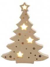 Papierový vianočný stromček svietiaci 27 cm