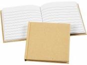 Papierový zápisník 14x14 cm - riadkovaný