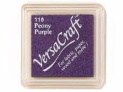 Pečiatková poduška Versacraft - fialová pivónia
