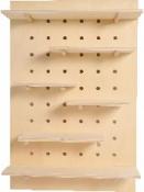 Peg board - drevená polička -60cm