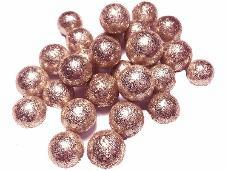 Glitrované guličky penové 1 cm - 5 g - staroružové
