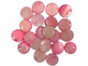 Perleťová korálka kruh 10  mm - ružová