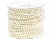 Perličková šnúra 4 mm - prírodná biela