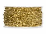 Perličková šnúra 2 mm - zlatá