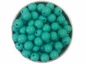 Plastová korálka 8 mm - tyrkysová