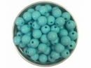 Plastová korálka 8 mm - azúrová