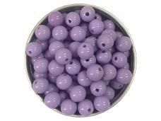 Plastová korálka 8 mm - fialová