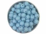 Plastová korálka 8 mm - svetlá modrá