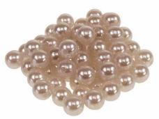 Plastové korálky perličky 8mm 10g - vintage hnedé