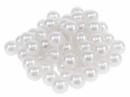 Plastové korálky perličky 8mm 10g - biele