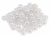 Plastové korálky perličky 12mm 10 ks - biele