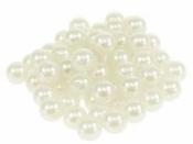 Plastové korálky perličky 10mm 20ks - krémové