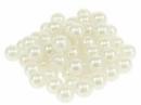 Plastové korálky perličky 12mm 10 ks - krémové