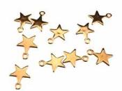 Plastový prívesok hviezdička 2 cm - zlatá