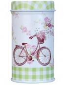 Plechová dóza  4x8 cm - bicykel