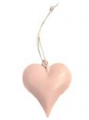 Kovové srdce duté 4cm - pastelové ružové