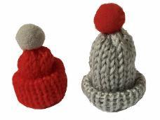Pletená čiapka pre škriatka 4 cm - sivá