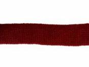 Pletený dutý šál 25 mm - bordový