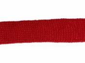 Pletený dutý šál 25 mm - červený