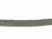 Pletený dutý šál 15 mm - sivý