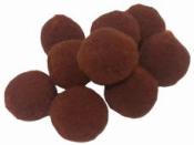 Plyšové POMPOM guličky 2cm - hnedé