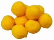 Plyšové POM POM guličky 2cm - slnečnicové žlté