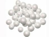 Glitrované guličky penové 1 cm - 5 g - biele