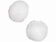 Plyšové POMPOM guličky 3,5 cm - biele