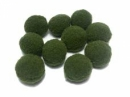 Plyšové POM POM guličky 2cm - olivové