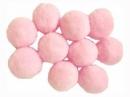 Plyšové POM POM guličky 2cm - ružové